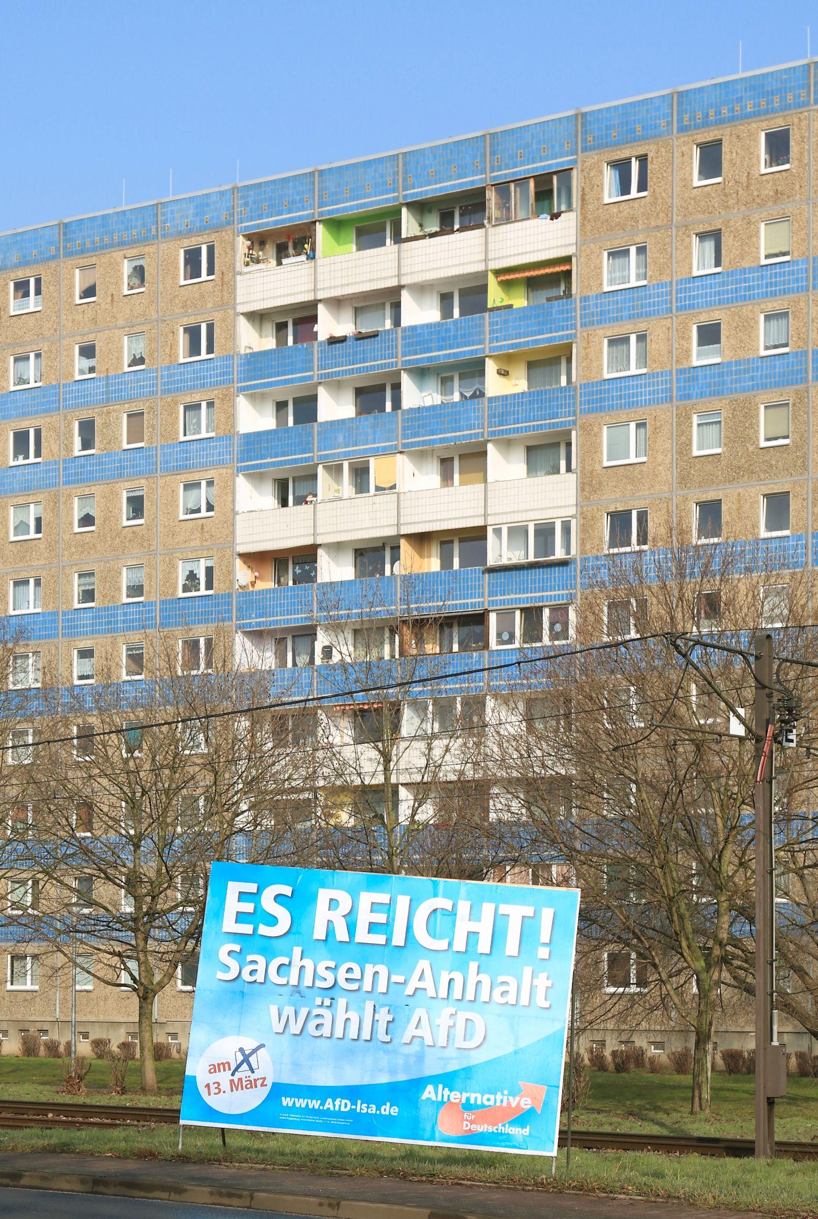 AfD-Plakat zur Landtagswahl in Sachsen-Anhalt