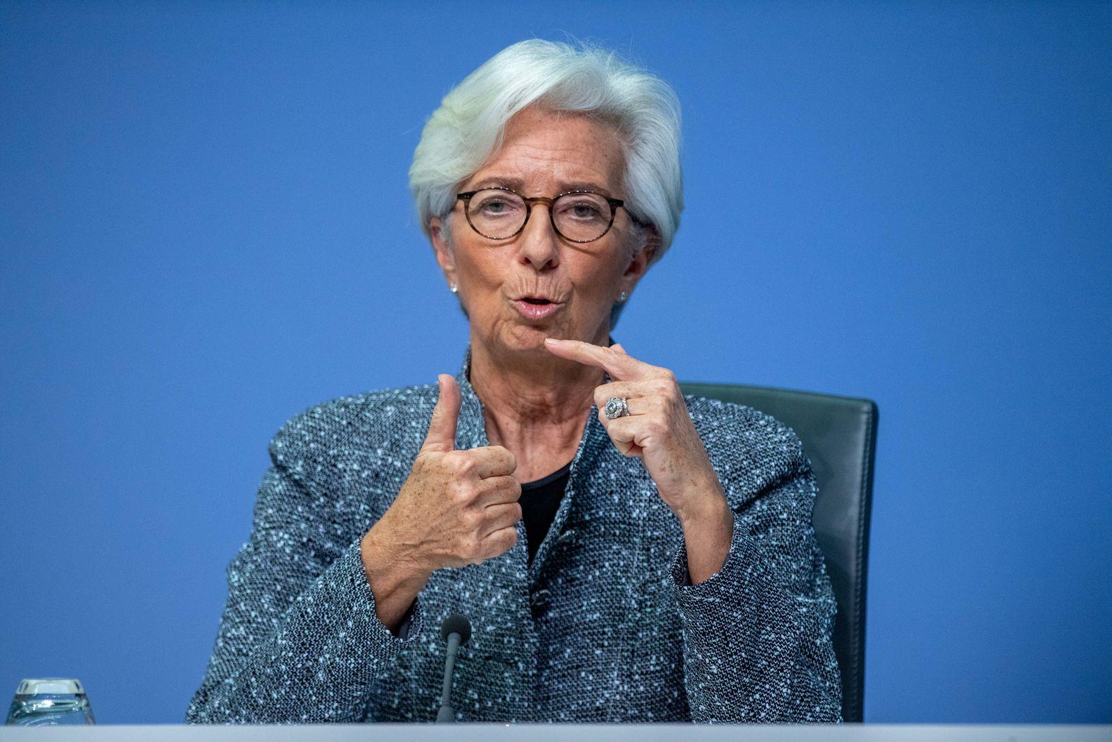 Pressekonferenz der EZB.