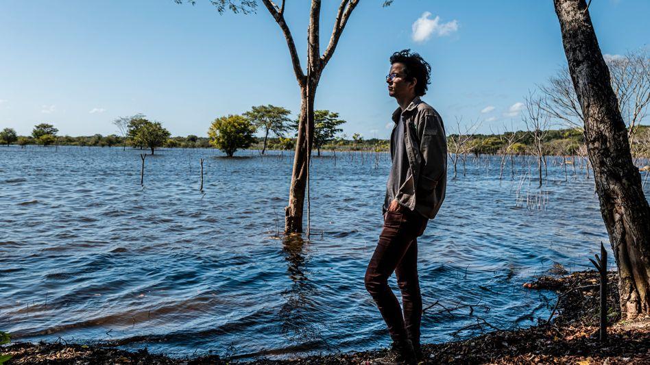 100 Millionen Bäume wollte Plant for the Planet (hier der Gründer der Stiftung Felix Finkbeiner) auf Yucatan pflanzen. Das Gebiet wurde überflutet, Setzlinge gingen ein. Sponsor Eckes-Granini zog sich zurück.
