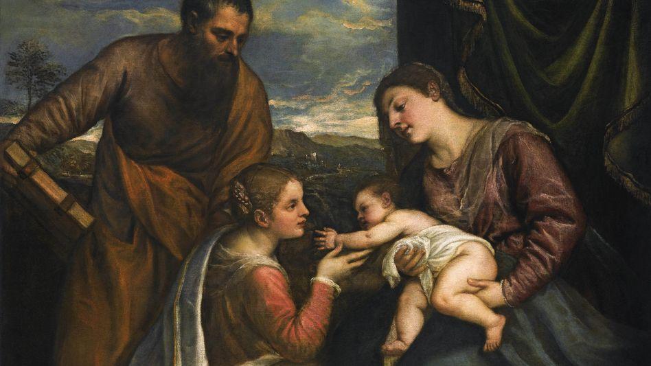 """Tizians """"Madonna mit dem Kind und den Heiligen Lukas und Katharina"""": Das Gemälde wurde für 16,8 Millionen Dollar in New York versteigert"""