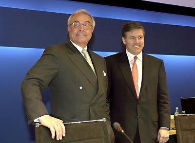Der alte und der neue Chef: Breuer (links), Ackermann