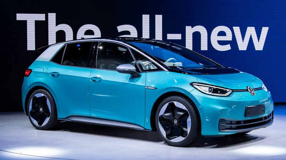 VW ID.3 auf der Messe IAA in Frankfurt im September 2019
