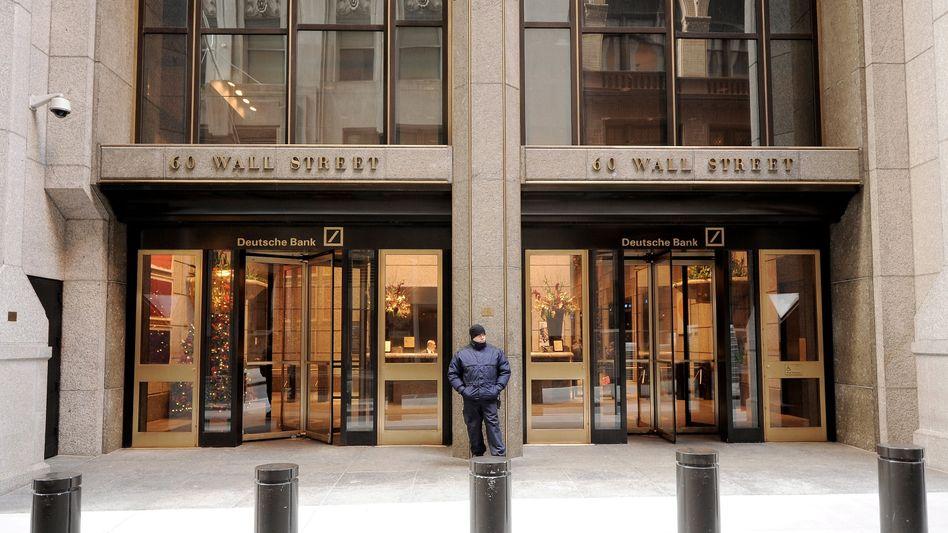Deutsche Bank-Niederlassung an der Wall Street: Das Geldhaus ist pessimistisch in Bezug auf den Euro