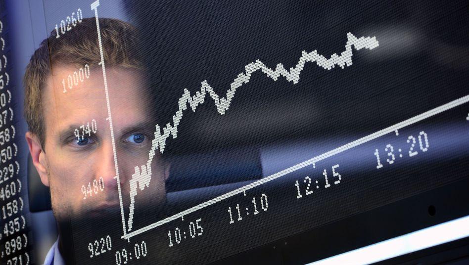 Schwarzer Freitag in Frankfurt: Der Dax verlor zu Handelsbeginn rund 10 Prozent an Wert - und erholte sich nur mühsam