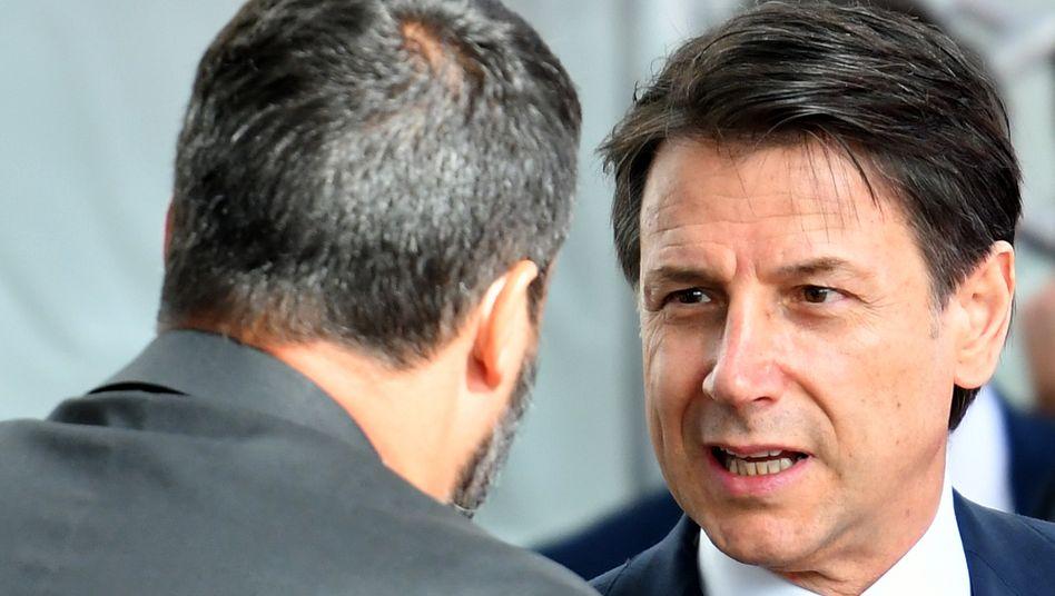 Getrennte Wege: Italiens Premier Giuseppe Conte (rechts) hat vor seinem Rücktritt mit seinem Stellvertreter Matteo Salvini abgerechnet