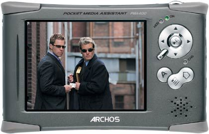 Archos PMA 400: Touchscreen-Display mit 320 mal 240 Pixel