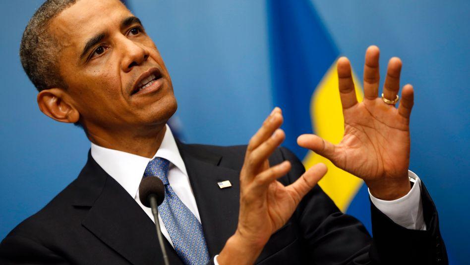 Barack Obama: Der US-Präsident vor dem G-20-Gipfel Unterstützung