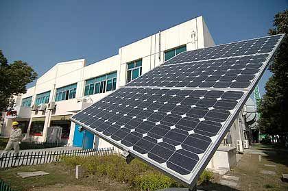 Neue Konkurrenz: Solarfabrik im chinesischen Wuxi