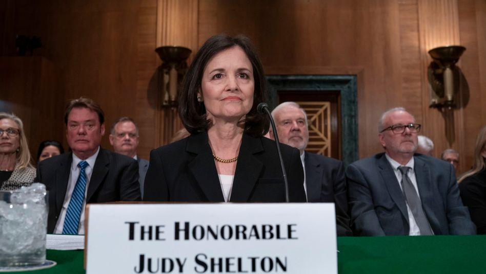 Umstrittene Personalie: Judy Shelton (bei ihrer Anhörung vor dem Senat im Februar 2020)