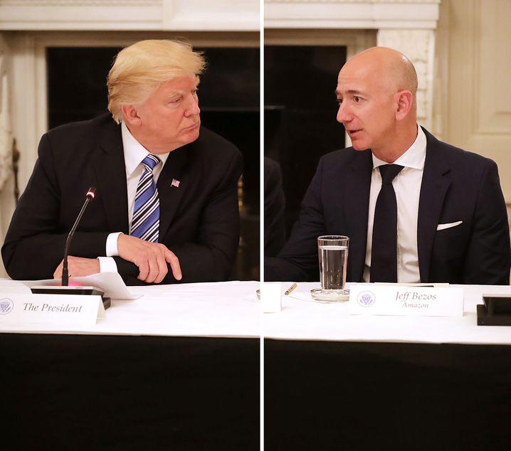 Bezos, Trump: Der reichste Mann der Welt und das größte Ego der Welt werden wohl nicht mehr beste Freunde