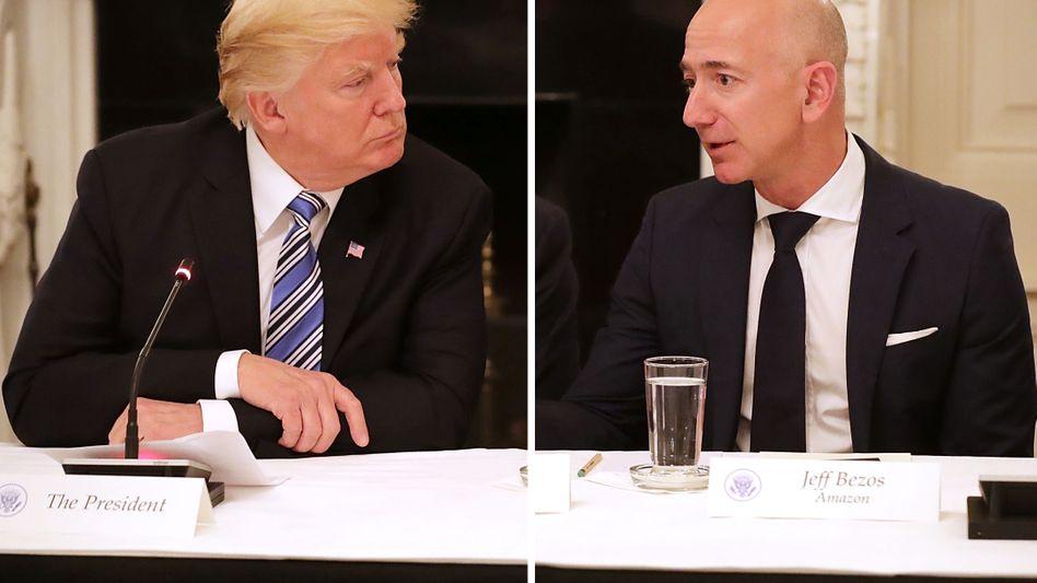 "Donald Trump, Amazon-Chef Jeff Bezos: ""Trump hasst Amazon"""