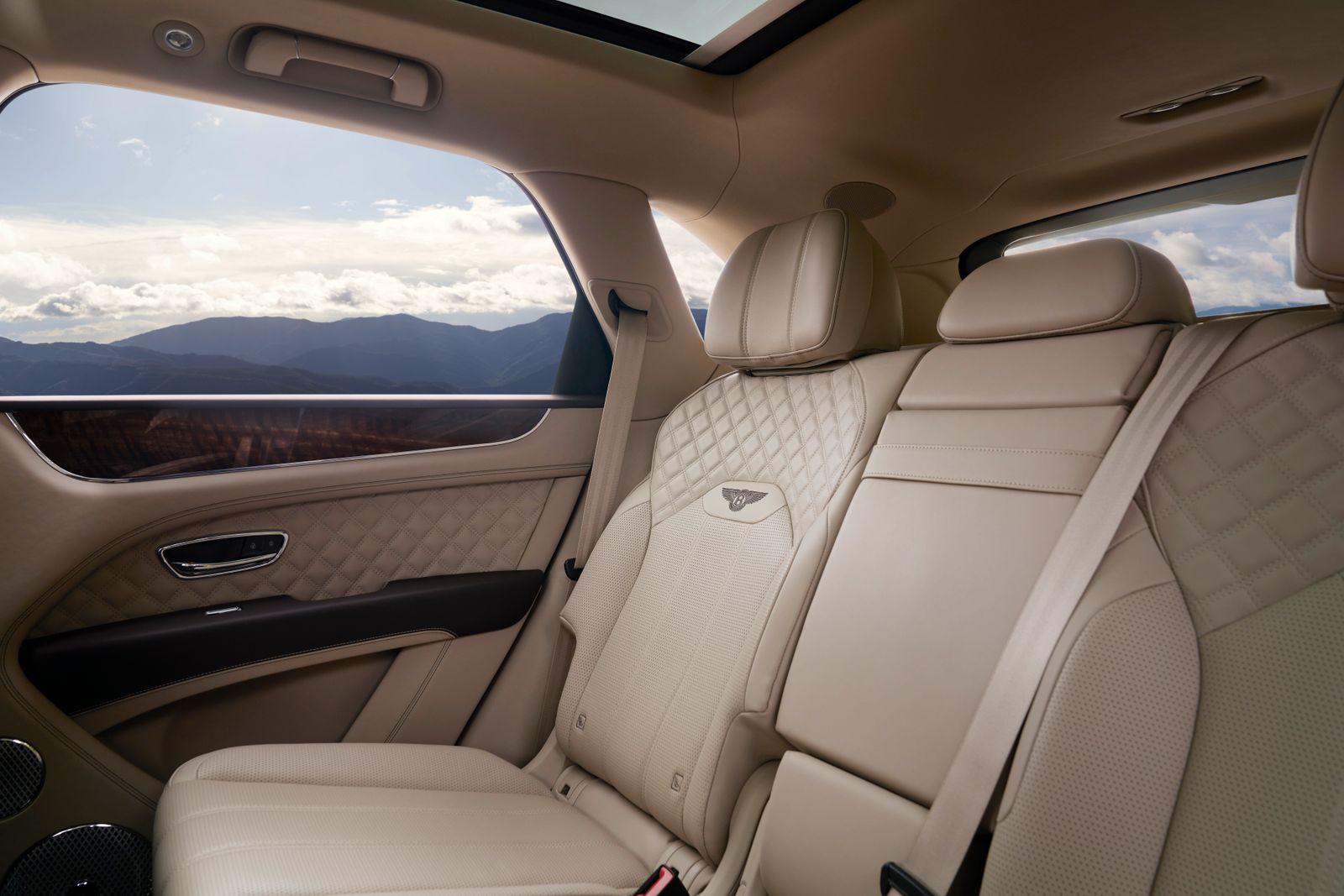 Bentley Bentayga / Rücksitze