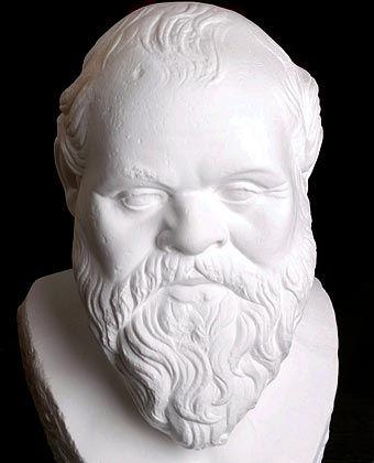 """Philosoph Sokrates: """"Du musst wissen, worüber du redest, wenn Du etwas sagst, weil es sein kann, dass Dir einer zuhört."""""""