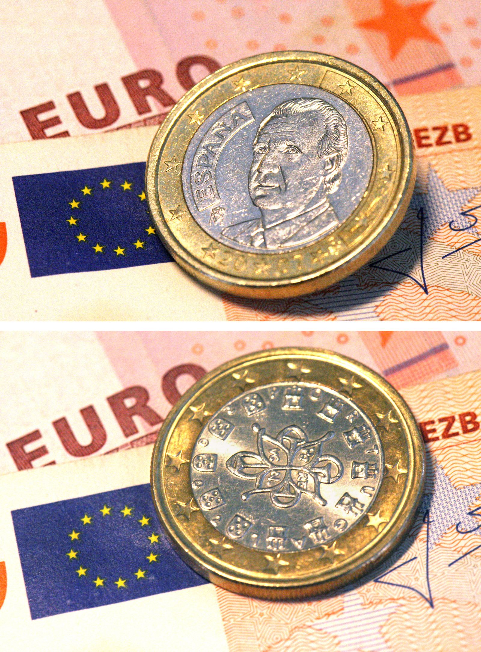 Portugiesische Ein-Euro-Münze