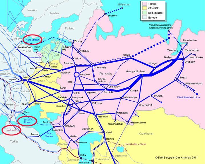 Gazproms Pipeline-Netz: Unterauslastung wahrscheinlich