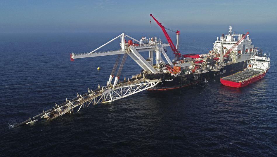 Gaspipeline Nord Stream 2 in der Ostsee: Die USA verhängen Sanktionen gegen Unternehmen, die helfen, die deutsche Energieversorgung zu sichern.