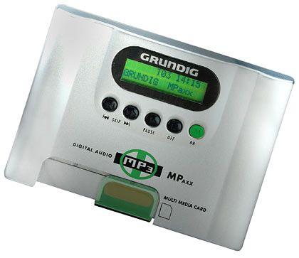 Seit 1999 kann man bei Grundig MP3 auch mobil hören: Der MPaxx-Walkman.