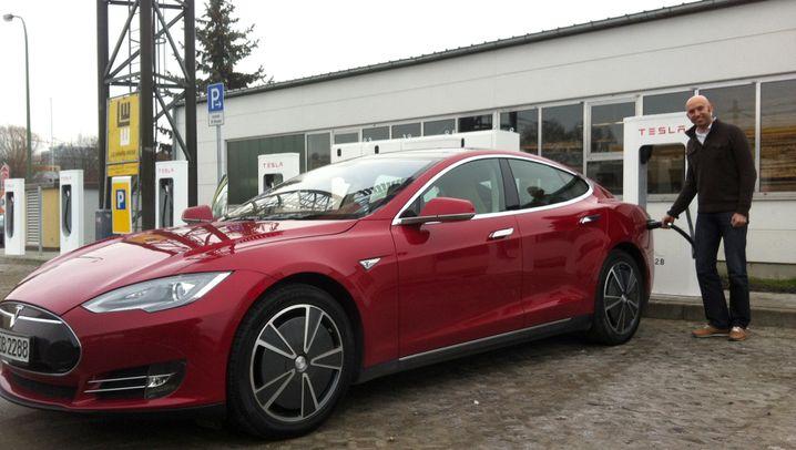 Unterwegs mit dem Tesla Model S: Supercharger-Netz im Test