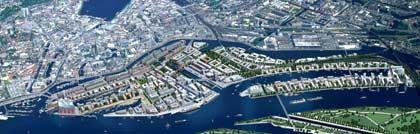Bis 2023 soll das ehemalige Freihafengelände komplett umgebaut sein: Die Hafencity in Hamburg
