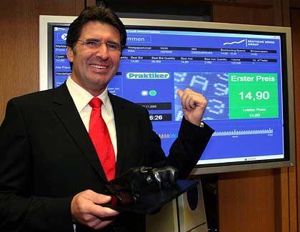 Praktiker-Vorstandschef Wolfgang Werner ist zufrieden: Die Aktie der Baumarktkette startete über dem Emissionspreis
