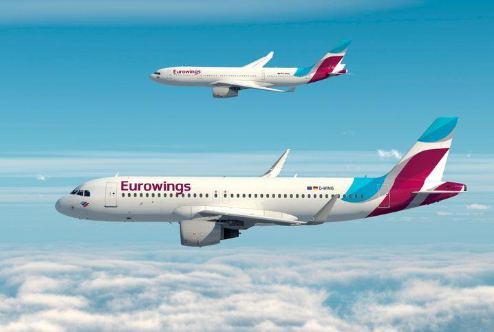 """Die Marke Eurowings wird zur Billigflugmacht im Konzern ausgebaut, zur """"roten"""" Lufthansa neben der etablierten """"blauen"""""""