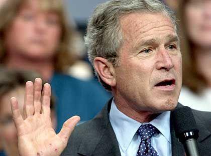 """George W. Bush: """"Die Wähler lieben den Dow Jones mehr als Paula Jones"""""""