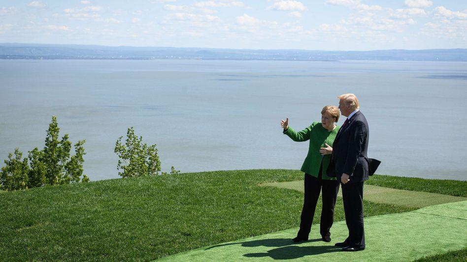 Angela Merkel und Donald Trump auf dem G7-Gipfeltreffen in Kanada