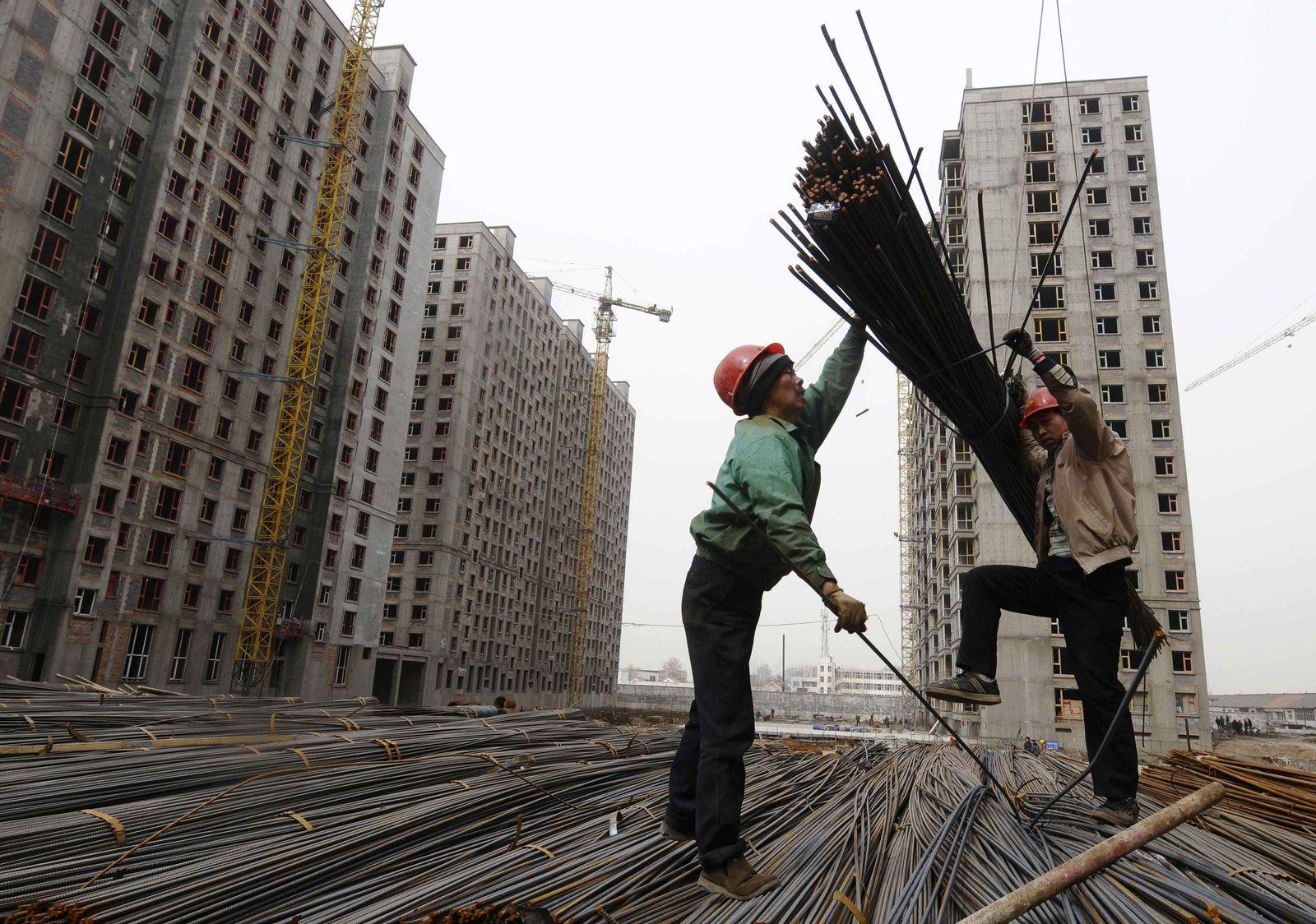 China/ Konjunktur/ Bauarbeiter