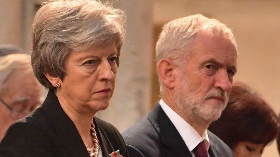 May, Corbyn: Ausweg aus dem Brexit-Chaos dringend gesucht - zur Not dann eben auch mit Jeremy