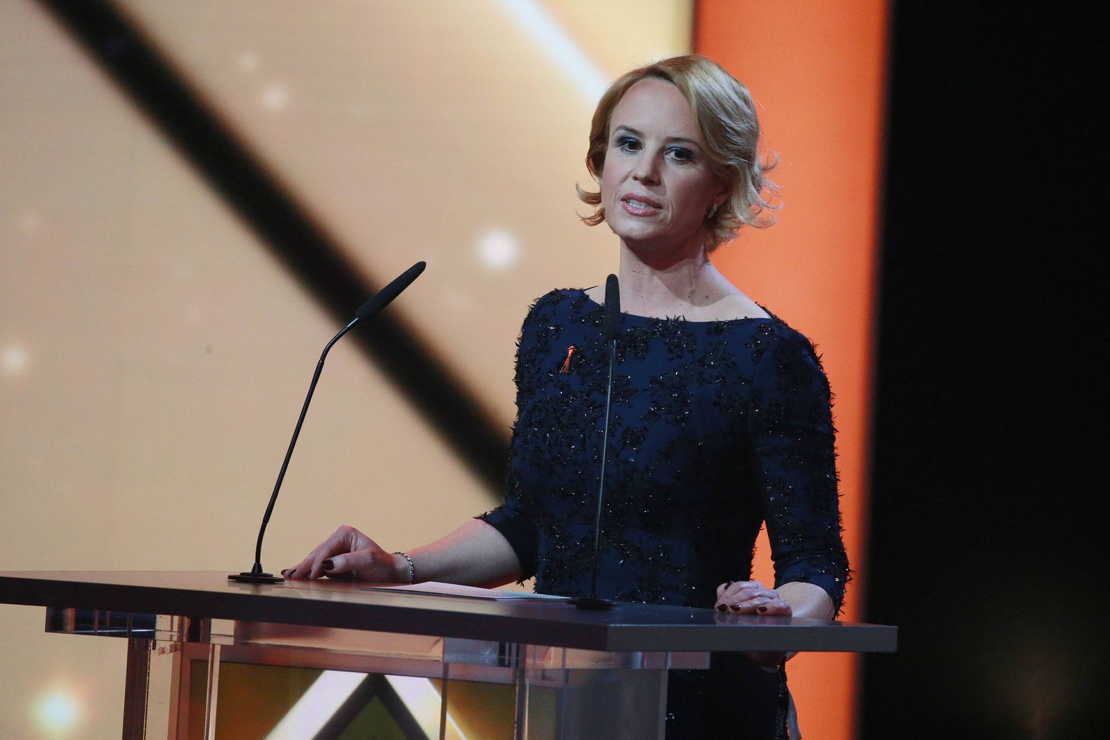 Funke-Verlegerin Julia Becker in der Live Sendung bei der 53 Verleihung der Goldenen Kamera in der Hamburger Messe in Ha