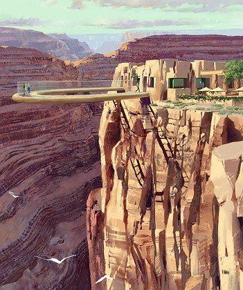 """Mutprobe: Die gläserne """"Skywalk""""-Plattform am Rande des Grand Canyons kostete 30 Millionen Euro"""