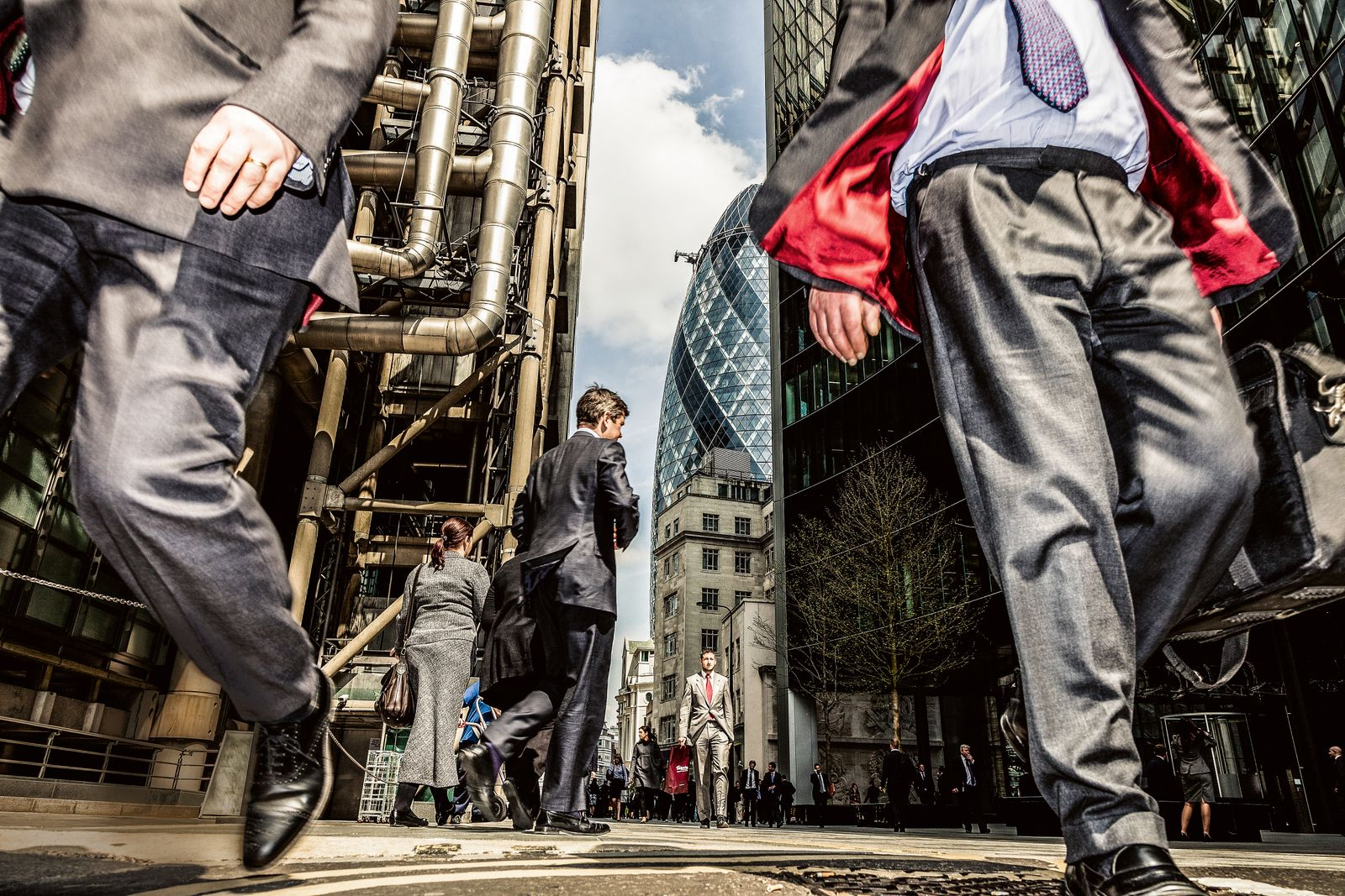 Men In Suits in The Financial Square Mile In London