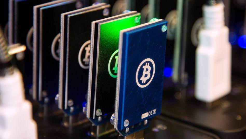 Bitte ein Bitcoin.