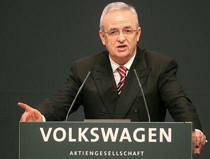 Harsche Worte: Volkswagen-Lenker Winterkorn ist gegen Staatshilfe für den VW-Konkurrenten Opel