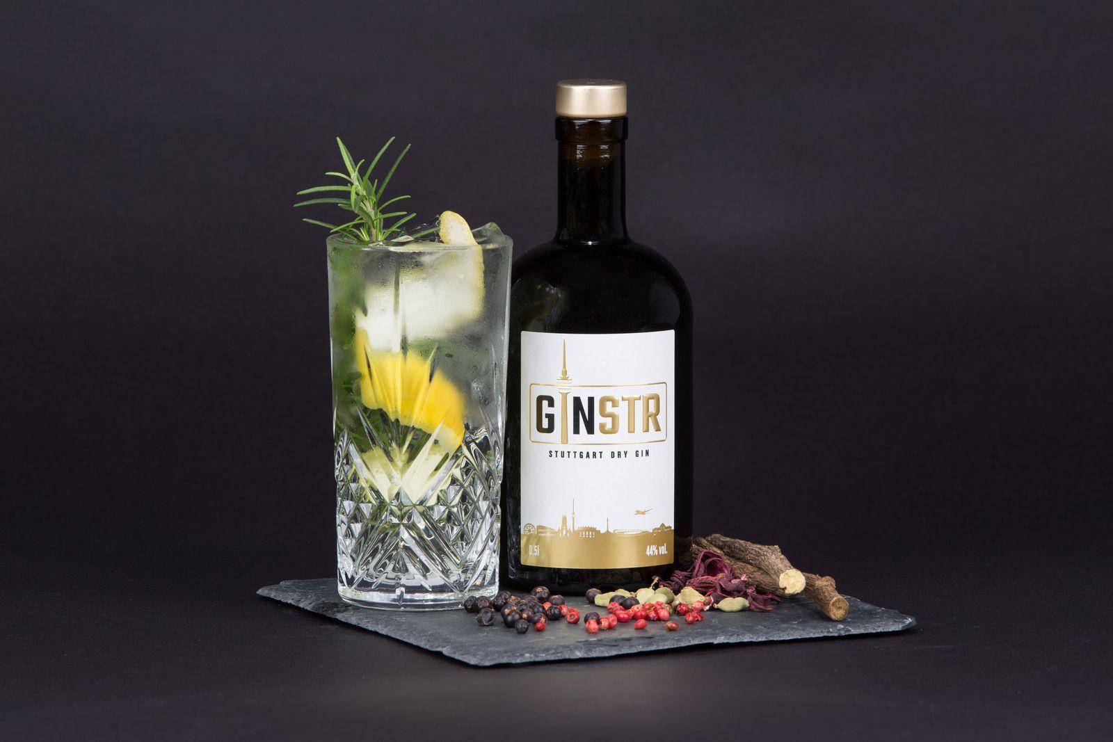 EINMALIGE VERWENDUNG Stuttgarter Gin ausgezeichnet