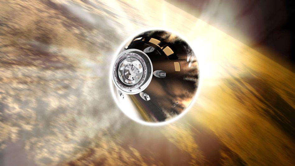 Illustration der NASA-Raumsonde Orion: Die Rakete soll noch in diesem Jahr auf Erkundungstour um den Mond starten