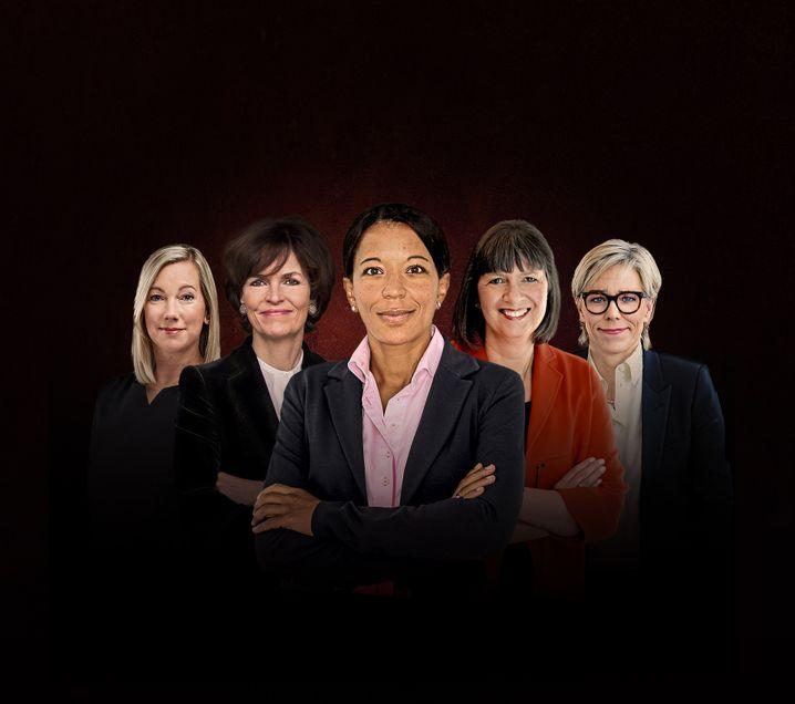 Frauenpower: Stephanie Caspar, Nicola Leibinger-Kammüller, Janina Kugel, Martina Hund-Mejean und Maria Moraeus Hanssen.