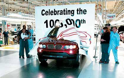 Klares Bekenntnis des Managements: Feier im amerikanischen BMW-Werk in Spartanburg