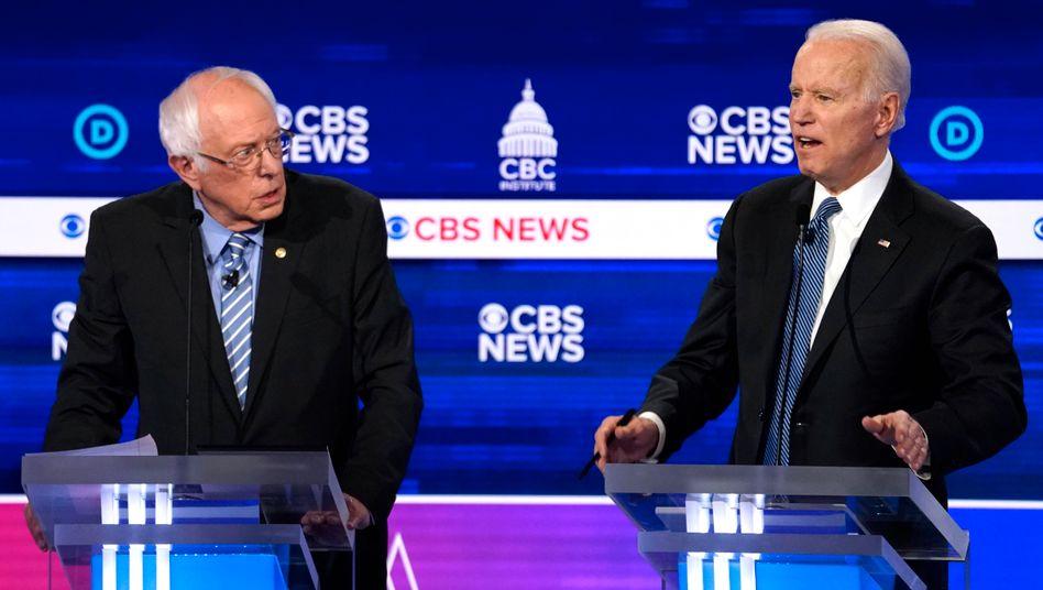 Bernie Sanders und Joe Biden werden an diesem Wochenende wieder debattieren. Das katastrophale Krisenmanagement Donald Trumps in der Coronakrise spielt vor allem Sanders in die Karten