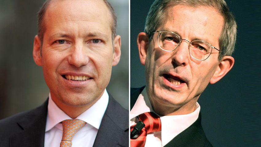 Aufruhr bei den Marktforschern: Vorstandschef Matthias Hartmann (l.) und Aufsichtsratschef Arno Mahlert treten zurück
