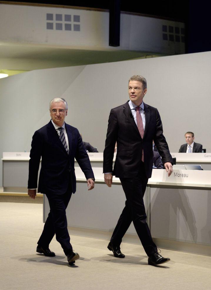 Scheitern auf ganzer Linie: Deutsche-Bank-Chefaufseher Paul Achleitner und CEO Christian Sewing.