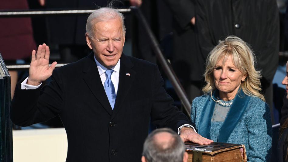 Neuer US-Präsident: Joe Biden bei der Vereidigung