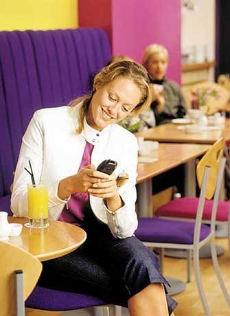 SMS-Nachrichten aus dem Café