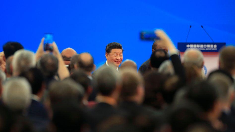 Chinas Präsident Xi Jinping: Öffnung des Marktes versprochen