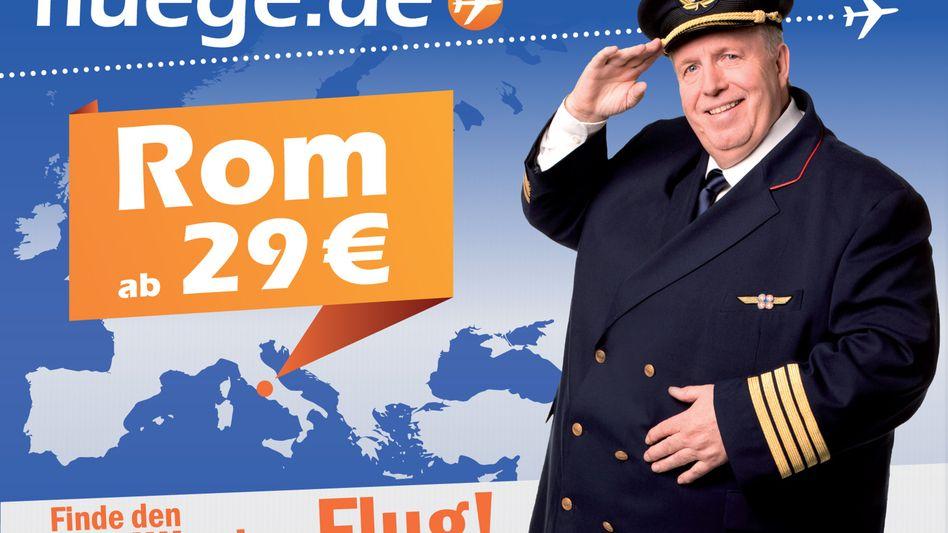 Pfundig: Unister-Werbung mit Werbefigur Reiner Calmund.