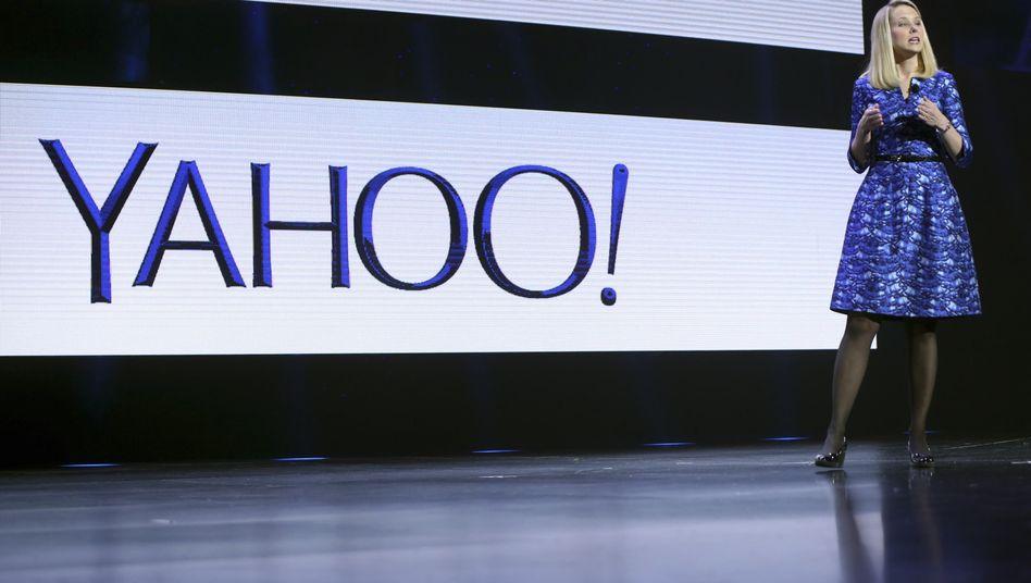 Steht beruflich gerade nur mittelmäßig da: Yahoo-Chefin Marissa May.