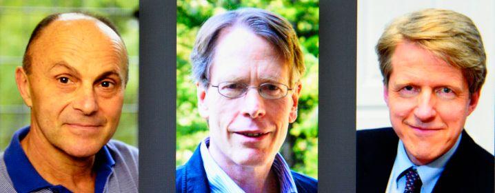 Nicht immer einer Meinung: Eugene Fama, Lars Peter Hansen und Robert Shiller (v. l.)