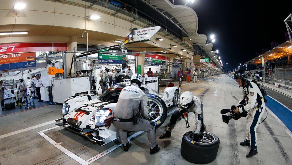 Sein Auto: Der Porsche 919 Hybrid, Sieger in Le Mans.