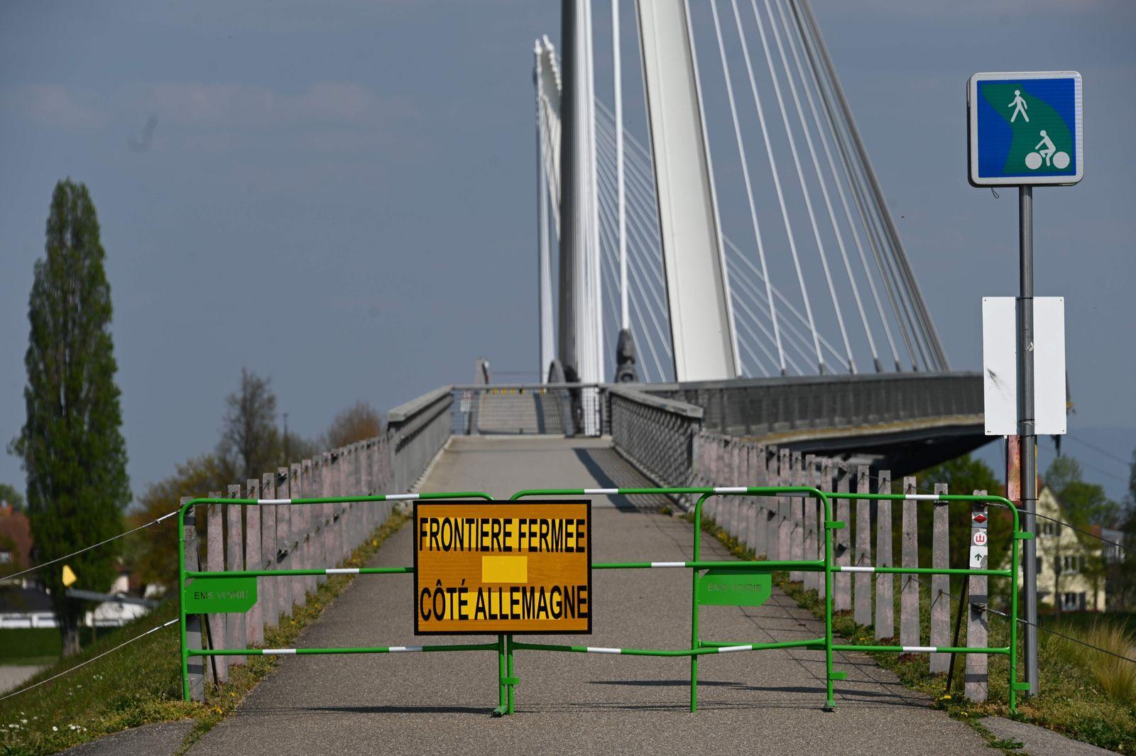EU / gesperrte Grenze / Straßburg