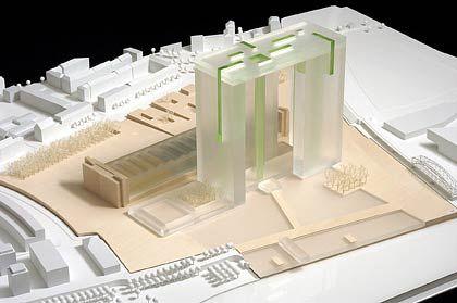 Zweiter Platz: Das Modell des Architektenbüros ASP Schweger Assoziierte, Berlin